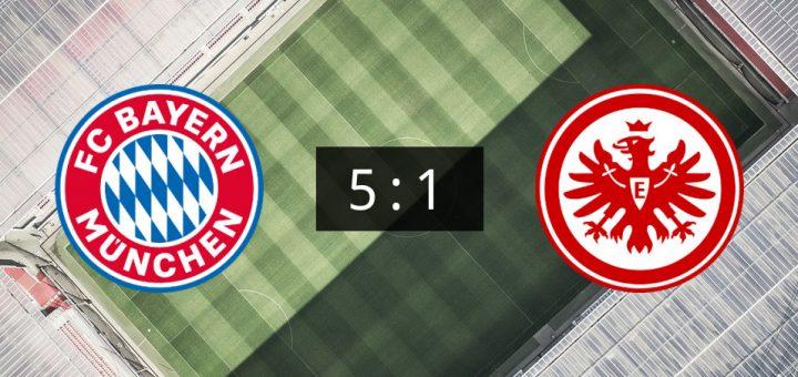 FC Bayern München siegt zu Hause 5:1 gegen Eintracht ...