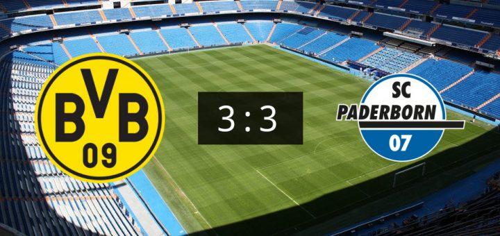 Bvb Gegen Sc Paderborn 07 Endet Mit 3 3 Unentschieden
